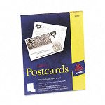 "Avery Laser Postcards 4"" x 6"" Two per Sheet 100 CardsBox (AVE5389)"