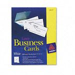 "Laser Business Cards 2"" x 3 12"" White 10 CardsSheet Box of 2500 (AVE5911)"