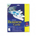 "Inkjet Glossy Business Cards 2"" x 3 12"" White 8Sheet Box of 200 (AVE8373)"