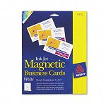 "Inkjet Magnetic Business Cards 2"" x 3 12"" White 10Sheet Pack of 30 (AVE8374)"