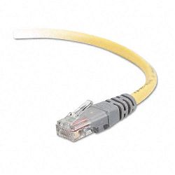 CAT5e Molded Crossover Patch Cable RJ45 Connectors 50 ft. Yellow (BLKA3X12650YLWM)
