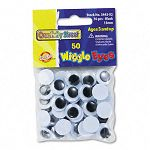 Round Black Wiggle Eyes 15mm Black Pack of 50 (CKC344302)