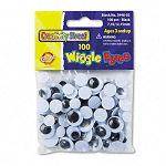 Wiggle Eyes Assortment Assorted Sizes Black Pack of 100 (CKC344602)