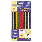 Wax Works Strips Bright Hues Colors 48 Pieces (CKC4170)