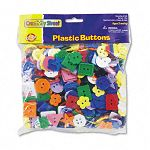 Plastic Button Assortment 1 lbs. Assorted ColorsSizes (CKC6120)