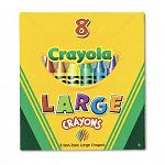 Large Crayons Tuck Box 8 ColorsBox (CYO520080)