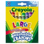 Washable Crayons Large 8 ColorsBox (CYO523280)