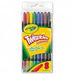 Twistable Crayons 8 Traditional ColorsSet (CYO527408)