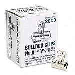 "Bulldog Clips Steel 516"" Capacity 1""w Nickel-Plated Box of 36 (EPI2000)"