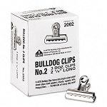 "Bulldog Clips Steel 12"" Capacity 2-14""w Nickel-Plated Box of 36 (EPI2002)"