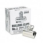 "Bulldog Clips Steel 78"" Capacity 2-58""w Nickel-Plated Box of 12 (EPI2003)"