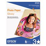 "Glossy Photo Paper 60 lbs. Glossy 8-12"" x 11"" 100 SheetsPack (EPSS041271)"