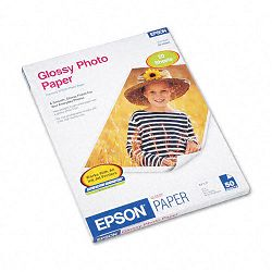 "Glossy Photo Paper 60 lbs. Glossy 8-12"" x 11"" 50 SheetsPack (EPSS041649)"