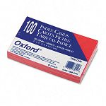 "Unruled Index Cards 3"" x 5"" Cherry Pack of 100 (ESS7320CHE)"