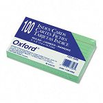 "Ruled Index Cards 3"" x 5"" Green Pack of 100 (ESS7321GRE)"