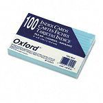 "Ruled Index Cards 4"" x 6"" Blue Pack of 100 (ESS7421BLU)"