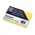 "Ruled Index Cards 4"" x 6"" Canary Pack of 100 (ESS7421CAN)"