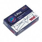 "T-Pins Steel Silver 2"" Box of 100 (GEM85T)"