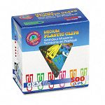 Paper Clips Plastic Medium Size Assorted Colors Box of 500 (GEMPC0300)