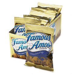 Famous Amos Cookies Chocolate Chip 2oz Snack Pack 8 PacksBox (KEB98067)