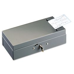Steel Bond Box with Check Slot Disc Lock Gray (MMF221104201)