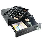"High-Security Cash Drawer 18"" x 16 34"" x 4 34"" Black (MMF2251060GT04)"