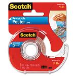 "Wallsaver Removable Poster Tape Double-Sided 34"" x 150"" with Disp. 1 Roll (MMM109)"