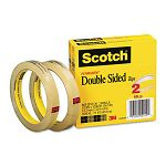 "665 Double-Sided Tape 12"" x 1296"" 3"" core Transparent 2 Rolls (MMM6652P1236)"