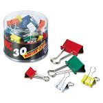 Binder Clips Metal Assorted ColorsSizes Pack of 30 (OIC31026)
