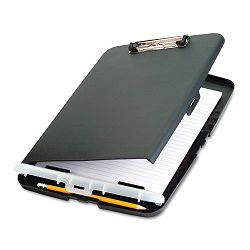 "Low Profile Storage Clipboard 12"" Capacity Holds 9""w x 12""h Charcoal (OIC83303)"