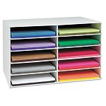 "Classroom Construction Paper Storage 10 Slots 26 78"" x 16 78"" x 18 12"" (PAC001316)"