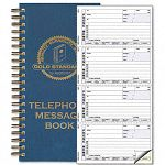 "Wirebound Message Book 2-34"" x 5"" Two-Part Carbonless 600 SetsBook (RED50079)"