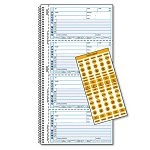 "Wirebound Message Book 2-34"" x 5-34"" Carbonless Copy 400 Forms 120 Labels (RED50176)"