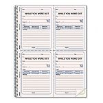 "Wirebound Message Book 4"" x 5-12"" Two-Part 200 Forms 120 Alert Labels (RED50726)"