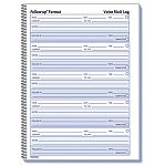 "Voice Mail Wirebound Log Books 8 x 10-58"" 500 SetsBook (RED51114)"