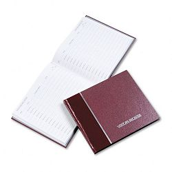 "Visitor Register Book Burgundy Hardcover 128 Pages 8 12"" x 9 78"" (RED57803)"