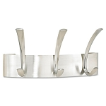 Metal Coat Racks Silver. Steel Wall Rack Three Hooks (SAF4204SL)
