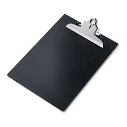 "Plastic Antimicrobial Clipboard 1"" Capacity Holds 8-12""w x 12""h Black (SAU21603)"