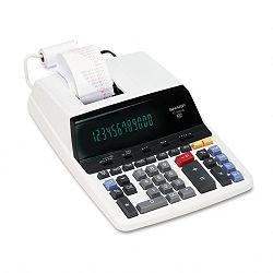 EL2630PIII Two-Color Printing Calculator 12-Digit Fluorescent BlackRed (SHREL2630PIII)