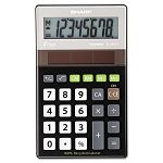 EL-R277BBK Recycled Series Handheld Calculator 8-Digit LCD Black (SHRELR277BBK)