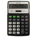 EL-R287BBK Recycled Series Calculator with Kick-stand 12-Digit LCD Black (SHRELR287BBK)