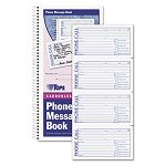 "Spiralbound Message Book 2-34"" x 5"" Two-Part Carbonless 400Book (TOP4003)"