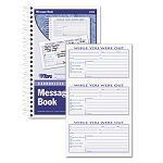"Spiralbound Message Book 2-78"" x 5"" Carbonless Duplicate 300 SetsBook (TOP4006)"