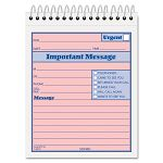 "Telephone Message Book with FaxMobile Section 4-14"" x 6"" Two-Part 50Book (TOP4010)"
