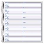 "Voice Message Log Books 8 14"" x 8 12"" 800-Message Book (TOP4416)"