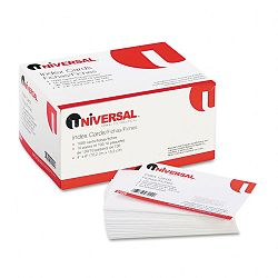 "Unruled Index Cards 4"" x 6"" White Pack of 100 (UNV47220)"