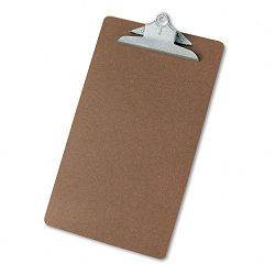 "Hardboard Clipboard 1-14"" Capacity Holds 8-12""w x 14h Brown (UNV40305)"