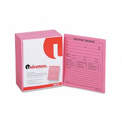"""Important Message"" Pink Pads 4-14"" x 5-12"" 50Pad Pack of 12 (UNV48023)"
