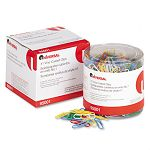 Paper Clips Vinyl Coated Wire No. 1 Assorted Colors Pack of 500 (UNV95001)