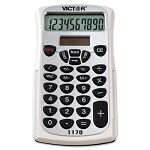 1170 Handheld Business Calculator with Slide Case 10-Digit LCD (VCT1170)